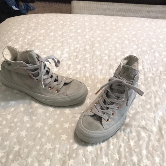 da78ef916a0 Converse Shoes - Converse Suede   Rose gold shoes